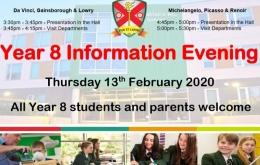 Year 8 information Evening