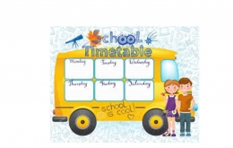 New School Bus Timetable from September 2018